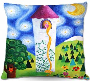 Decorative Outdoor Patio Pillow Cushion | nJoy Art - Rapunzels Tower