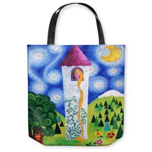 Unique Shoulder Bag Tote Bags   nJoy Art Rapunzels Tower