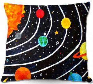 Decorative Outdoor Patio Pillow Cushion | nJoy Art - Solar System IV