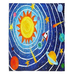 Decorative Fleece Throw Blankets | nJoy Art - Solar System VII