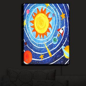 Nightlight Sconce Canvas Light | nJoy Art - Solar System VII