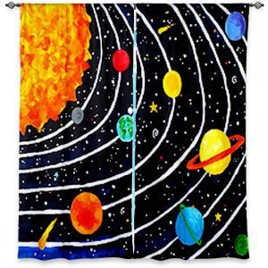 Decorative Window Treatments | nJoy Art Solar System IV