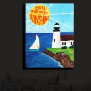 Nightlight Sconce Canvas Light | nJoy Art - Sunshine Lighthouse | Ocean Quotes Landscapes