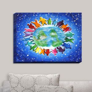 Decorative Canvas Wall Art | nJoy Art - The World Is My Playground | Earth Colorful Passions Child Like
