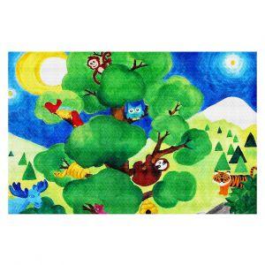 Decorative Floor Coverings | nJoy Art Tree of Wildlife