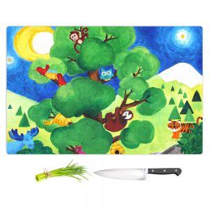 Artistic Kitchen Bar Cutting Boards | nJoy Art - Tree of Wildlife
