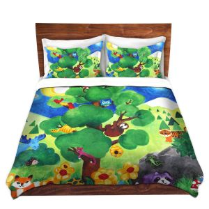 Artistic Duvet Covers and Shams Bedding | nJoy Art - Tree of Wildlife