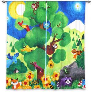 Decorative Window Treatments | nJoy Art Tree of Wildlife