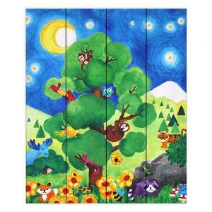 Decorative Wood Plank Wall Art   nJoy Art Tree of Wildlife