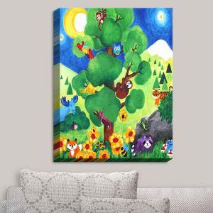 Decorative Canvas Wall Art | nJoy Art - Tree of Wildlife