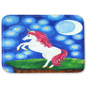 Decorative Bathroom Mats | nJoy Art - Unicorn Starry Night