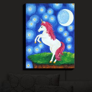 Nightlight Sconce Canvas Light | nJoy Art - Unicorn Starry Night | Animal Make Believe Child Like