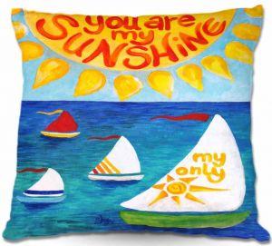 Throw Pillows Decorative Artistic   nJoy Art You are My Sun Sail