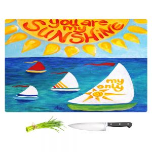 Artistic Kitchen Bar Cutting Boards | nJoy Art - You Are My Sunshine Sailing