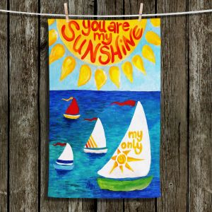 Unique Hanging Tea Towels | nJoy Art - You Are My Sunshine Sailing | Sunshine Sailboat Love