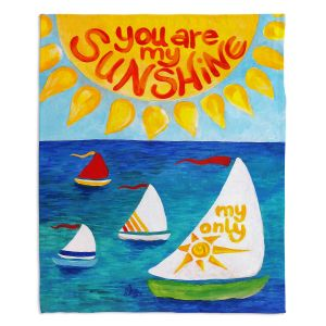 Decorative Fleece Throw Blankets | nJoy Art - You Are My Sunshine Sailing