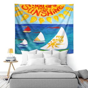 Artistic Wall Tapestry | nJoy Art You Are My Sunshine Sailing