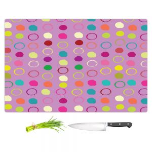 Artistic Kitchen Bar Cutting Boards | Olive Smith - Circle Blunder l