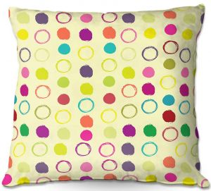 Unique Outdoor Pillow 18X18 from DiaNoche Designs by Olive Smith - Circle Blunder ll