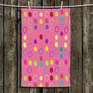 Unique Hanging Tea Towels | Olive Smith - Circle Blunder lll | Circles Patterns