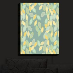 Nightlight Sconce Canvas Light | Olive Smith - Feuiles I | Patterns