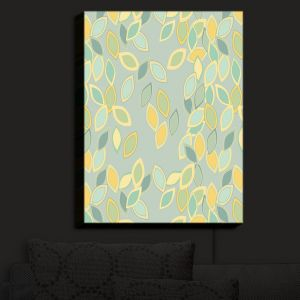 Nightlight Sconce Canvas Light | Olive Smith - Feuiles II | Patterns