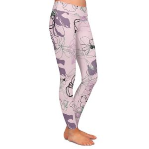 Casual Comfortable Leggings | Olive Smith - Floral Doddle lV