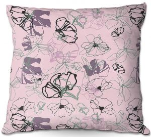 Decorative Outdoor Patio Pillow Cushion   Olive Smith - Floral Doddle lV