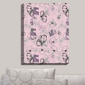 Decorative Canvas Wall Art | Olive Smith - Floral Doddle IV | Florals Patterns