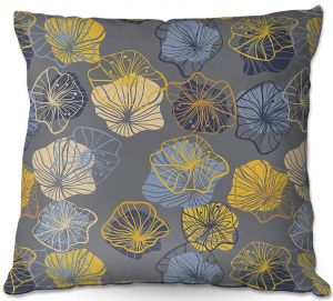 Decorative Outdoor Patio Pillow Cushion | Olive Smith - Gerbera lll