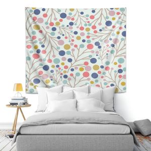 Artistic Wall Tapestry   Olive Smith - Pastel Trees 1   Nature Floral Pattern leaves