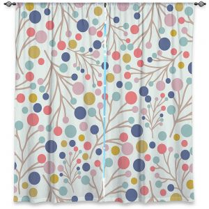 Decorative Window Treatments | Olive Smith - Pastel Trees 1 | Nature Floral Pattern leaves