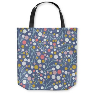 Unique Shoulder Bag Tote Bags | Olive Smith - Pastel Trees 2 | Nature Floral Pattern leaves