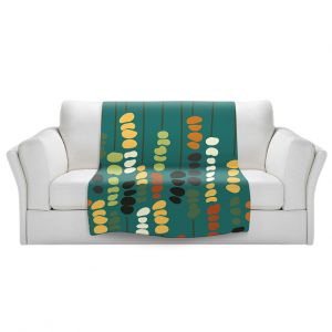 Artistic Sherpa Pile Blankets | Olive Smith - Sticks and Stones 1 | Rocks Nature Patterns