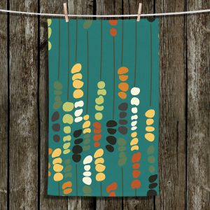 Unique Hanging Tea Towels | Olive Smith - Sticks and Stones 1 | Rocks Nature Patterns