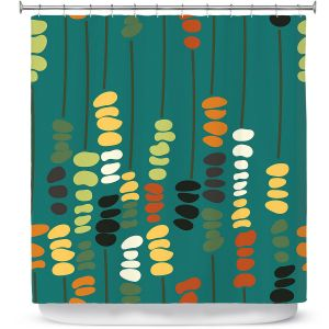 Premium Shower Curtains   Olive Smith - Sticks and Stones 1   Rocks Nature Patterns