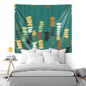 Artistic Wall Tapestry | Olive Smith - Sticks and Stones 1 | Rocks Nature Patterns