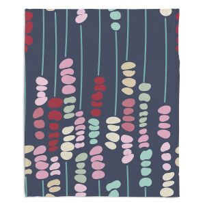 Artistic Sherpa Pile Blankets | Olive Smith - Sticks and Stones 2 | Rocks Nature Patterns