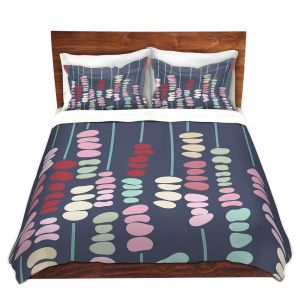 Artistic Duvet Covers and Shams Bedding | Olive Smith - Sticks and Stones 2 | Rocks Nature Patterns
