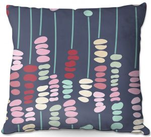 Decorative Outdoor Patio Pillow Cushion   Olive Smith - Sticks and Stones 2   Rocks Nature Patterns