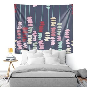 Artistic Wall Tapestry   Olive Smith - Sticks and Stones 2   Rocks Nature Patterns