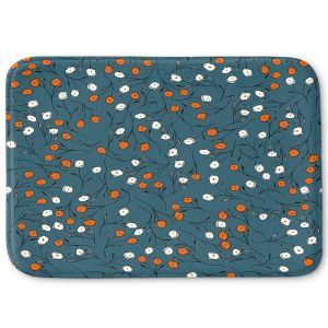 Decorative Bathroom Mats | Olive Smith - Wildflower 2 | Nature Pattern Floral