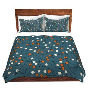 Artistic Duvet Covers and Shams Bedding | Olive Smith - Wildflower 2 | Nature Pattern Floral