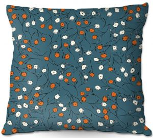 Throw Pillows Decorative Artistic | Olive Smith - Wildflower 2 | Nature Pattern Floral