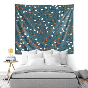 Artistic Wall Tapestry | Olive Smith - Wildflower 2 | Nature Pattern Floral