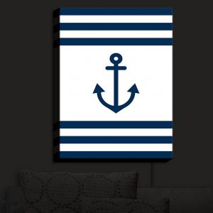 Nightlight Sconce Canvas Light | Organic Saturation - Anchor Stripes White