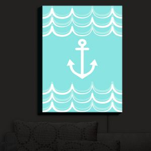 Nightlight Sconce Canvas Light | Organic Saturation - Anchor Waves Aqua