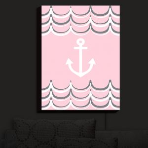 Nightlight Sconce Canvas Light | Organic Saturation - Anchor Waves Blush Pink