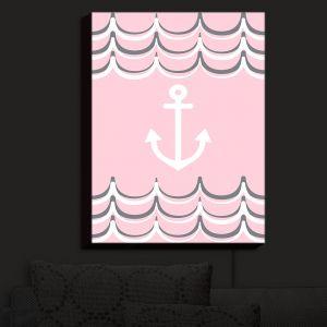 Nightlight Sconce Canvas Light | Organic Saturation - Anchor Waves Blush Pink