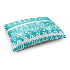 Decorative Dog Pet Beds   Organic Saturation's Boho Blue Aztec